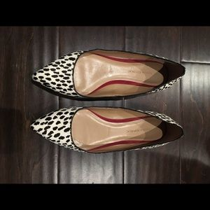 Banana Republic Calf Hair Pointy Toe Flats 7.5